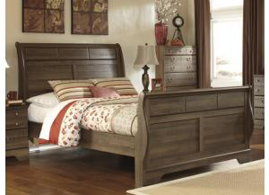 MB15 Aged Oak Queen Sleigh Bed