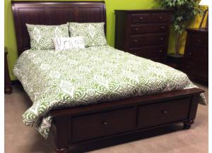 MB34 Brown Mahogany Twin Storage Bed