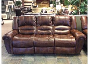 LR108 Performance Pecan Power Reclining Sofa
