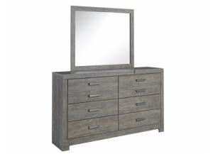 MB123 Gray Dresser & Mirror