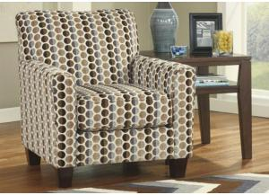 LR52 Cafe Print Accent chair from the Button Up Collection