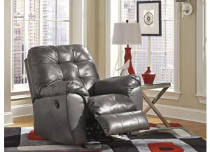 LR48 Gray Contemporary Leatherblend Rocker Recliner