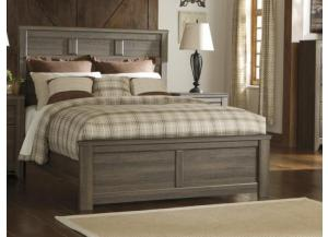 MB10 Rustic Oak Queen Panel Bed