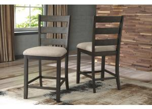 DR116 Light Brown Upholstered Barstool: Set of 2