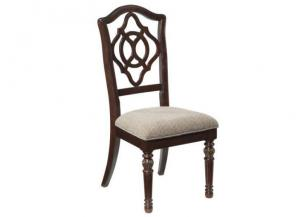 DR69 Traditional Upholstered Side Chairs: Set of 2