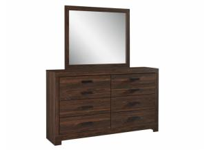 MB124 Dark Brown Dresser & Mirror