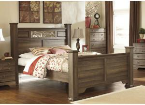 MB15 Aged Oak Queen Poster Bed
