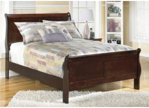 MB13 Louis Brown Cherry Full Sleigh Bed
