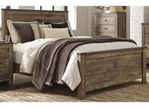 MB60 Vintage Brown Queen Panel Bed