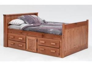 Full Storage Captains Bed