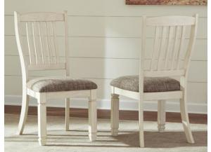 DR93 2-Tone White/Dark Upholstered Side Chairs: Set of 2