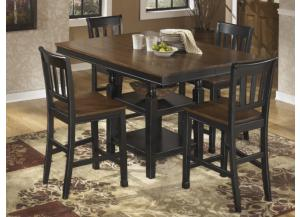 DR21 Black & Brown Farmhouse Counter Table