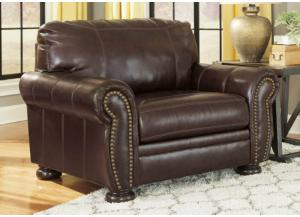 Coffee Leather Seating Chair from the Traditional Collection