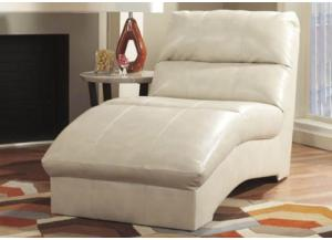 Taupe Leatherblend Chaise from the Palma Collection