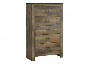 MB60 Vintage Brown 5-Drawer Chest