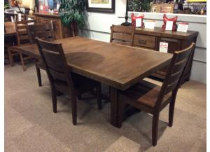 DR91 Dark Brown Dining Table & 4 Chairs
