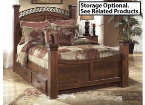 MB33 Warm Cherry King Poster Bed