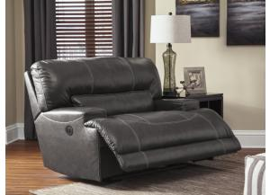 Catskill Gray Leather Power Recliner