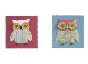 Youth Patchwork Owl Wall Panels: Set of 2