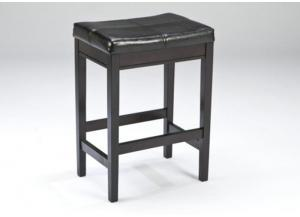 DR6 Contemporary Dark Backless Counter Stools: Set of 2