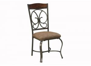 DR14 Wood & Scrolled Metal Side Chairs: Set of Four