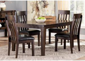 DR46 Rustic Charm Dark Dining Table & 4 Chairs