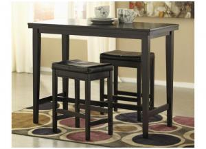 DR6 Contemporary Dark Counter Table & 2 Stools