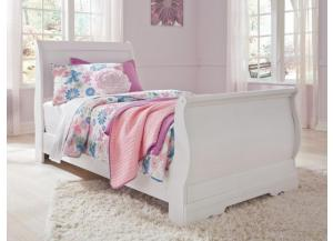YB18 Traditional White Twin Sleigh Bed
