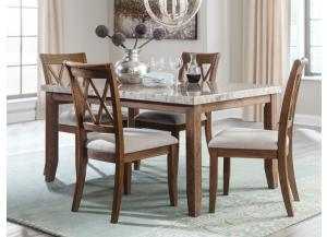 DR92 2-Tone Light Dining Table & 4 Side Chairs
