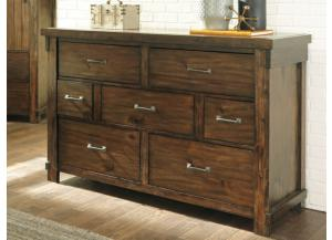 MB136 Rustic Brown Dresser
