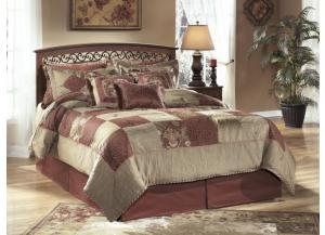 MB33 Warm Cherry Dual Full/Queen Headboard