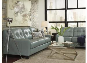 Kean Sky Leather Seating Sofa