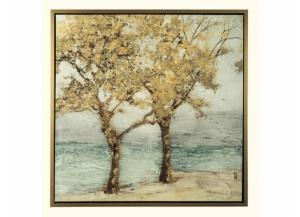 Trees Framed Canvas - 42