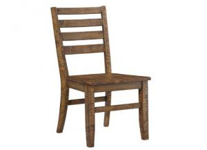DR72 Light Brown Plank Side Chairs: Set of Two