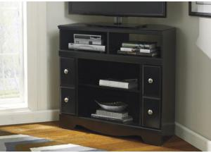 HE3 Contemporary Black Corner TV Stand