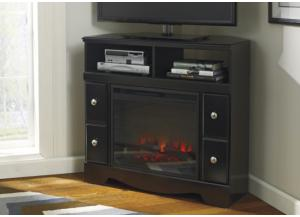 Hunter Corner TV Stand with LED Fireplace Insert