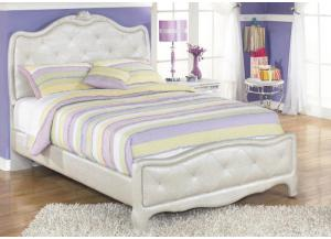 YB6 Silver Pearl Full Upholstered Bed
