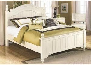 YB7 Brandy Cream Full Poster Bed