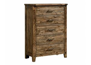 MB161 Medium Brown Plank Chest