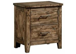 MB161 Medium Brown Plank Nightstand