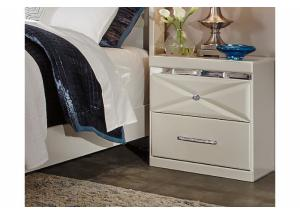MB77 White Contemporary Nightstand