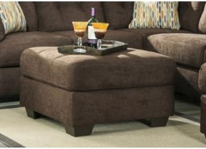 LR47 Chocolate Oversize Ottoman from the High Energy Collection