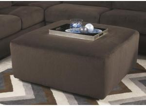LR65 Chocolate Oversize Accent Ottoman from the Schooner Collection