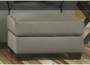 LR85 Cobblestone Ottoman from the Microfiber Collection