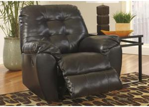 LR48 Chocolate Contemporary Leatherblend Rocker Recliner