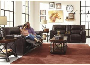 Chocolate Leatherblend 2-Seat Reclining Sofa