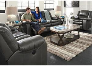LR19 Gray Reclining Sofa from the Performance Collection
