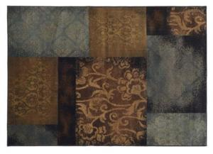 Blue/Brown Squares Area Rug - 10.1' x 7.1'