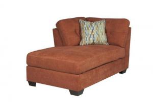 LR47 Rust LAF Corner Chaise from the High Energy Collection