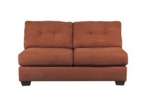 LR47 Rust Armless Loveseat from the High Energy Collection